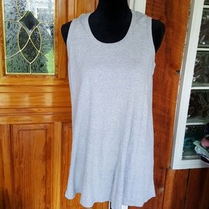 MOTHERHOOD heather gray maternity tank top
